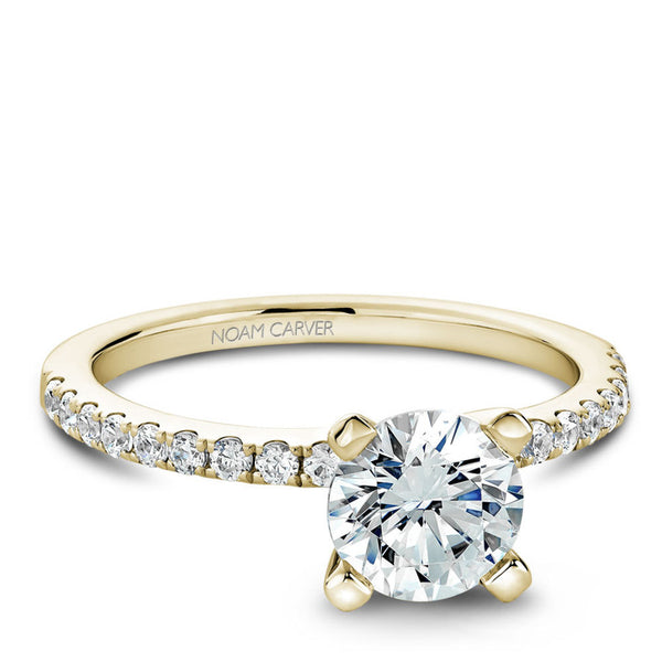 Noam Carver 14K Yellow Gold Diamond Engagement RIng (B017-01YA)