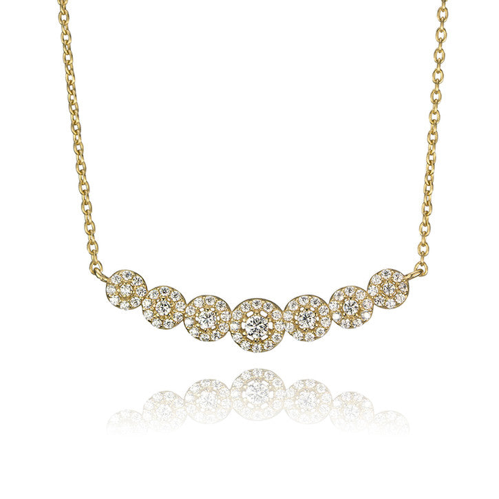 10K Yellow Gold Cubic Zirconia Necklace