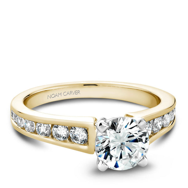 Noam Carver 14K Yellow Gold Diamond Engagement Ring (B006-01YWA)
