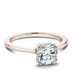 Noam Carver 14K Rose Gold Engagement Ring (B004-04RWA)