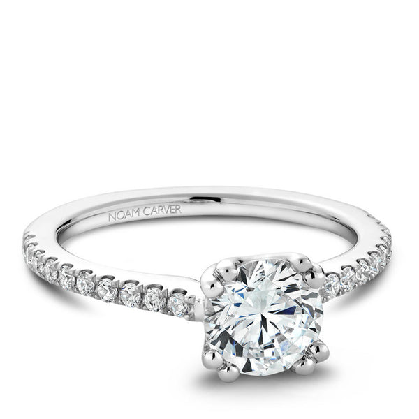 Noam Carver 14K White Gold Diamond Engagement Ring (B001-01A)