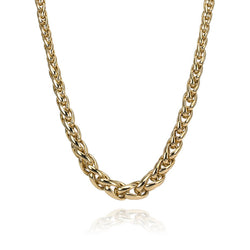 18K Yellow Gold Wheat Link Chain