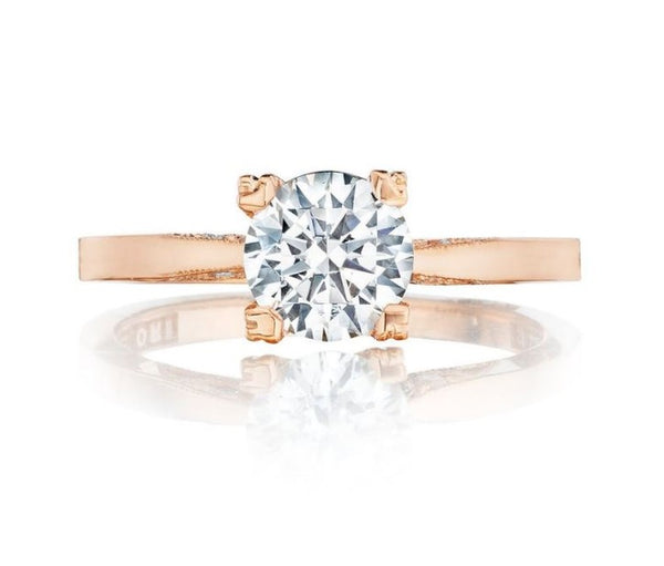 Tacori Pretty in Pink 18K Pink Gold Engagement Ring