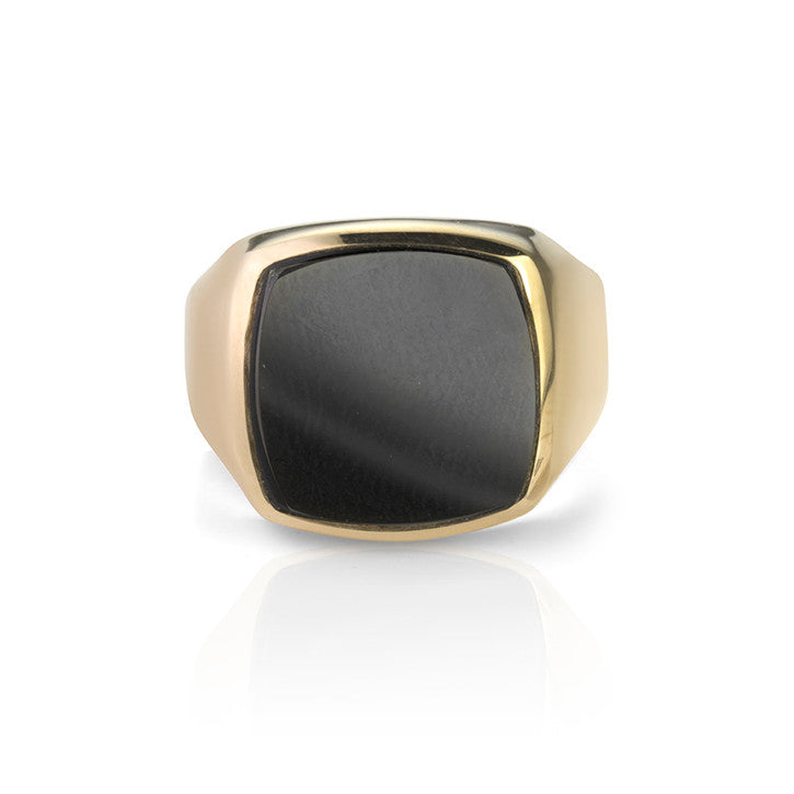 10K Yellow Gold Onyx Gentlemen's Ring