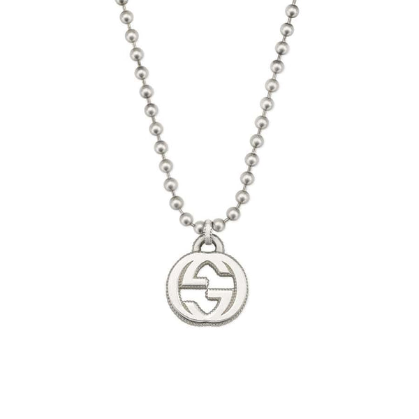 Gucci Silver Interlocking G Pendant Necklace