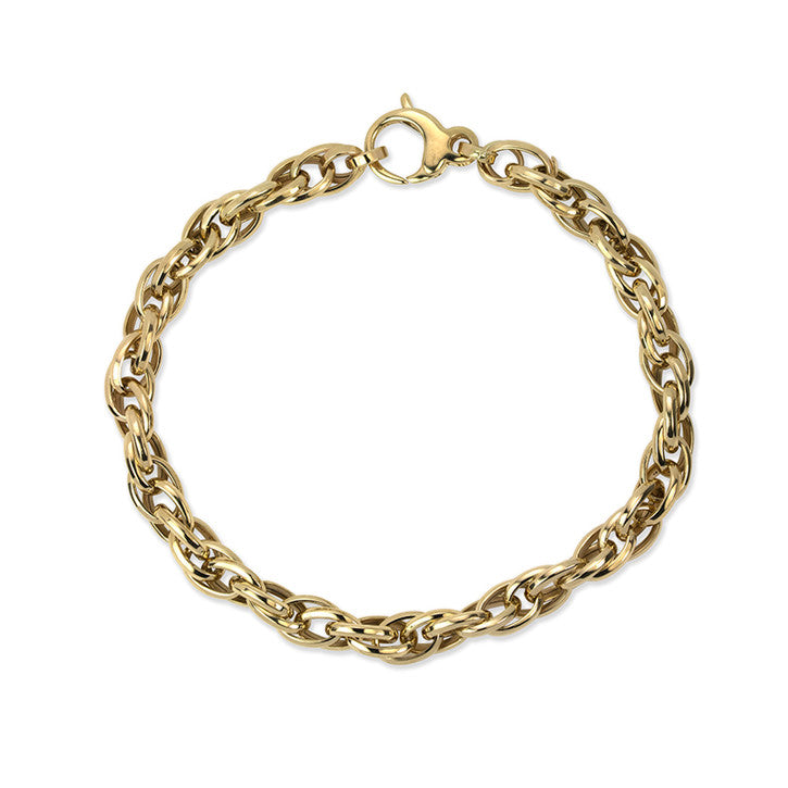 14K Yellow Gold Sinapore Link Bracelet