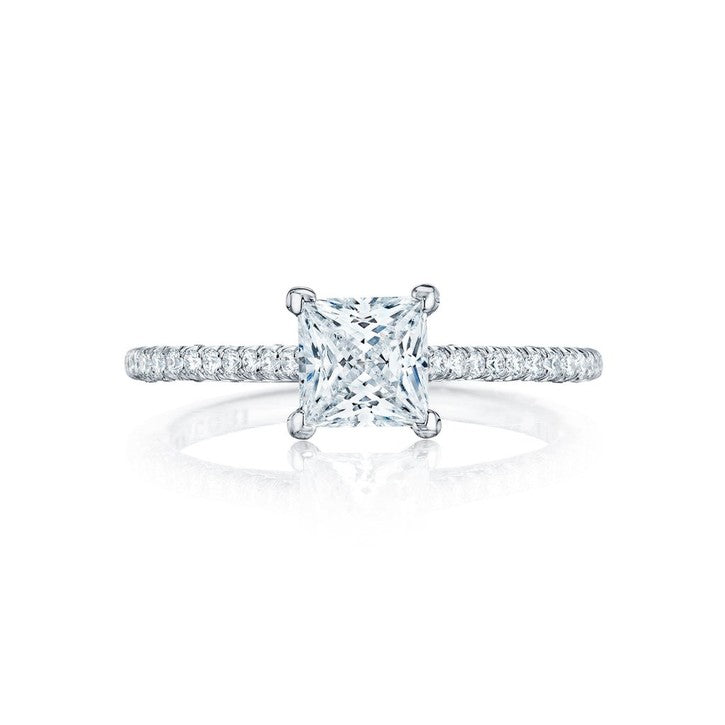 Tacori Petite Crescent 18K White Gold Diamond Engagement Ring