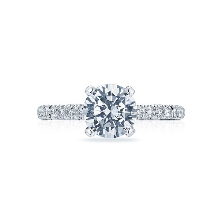 Tacori Petite Crescent Platinum Diamond Engagement Ring