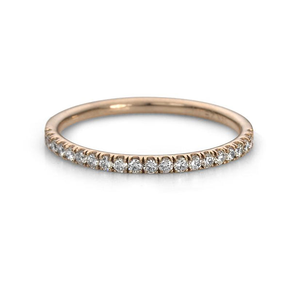 14K Rose Gold and Diamond Eternity Ring