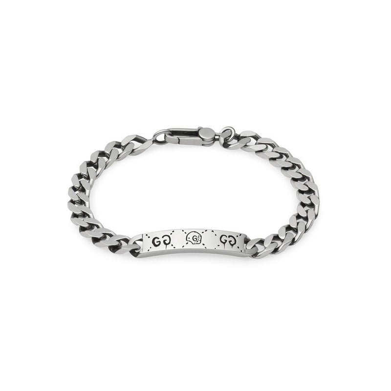 Gucci Silver Ghost Link ID Bracelet
