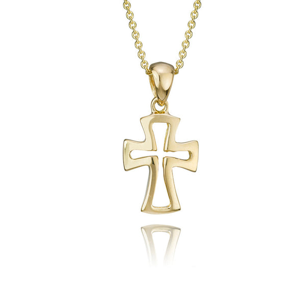 18K Yellow Gold Cross Pendant