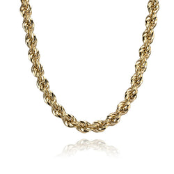 18K Yellow Gold Rope Link Chain