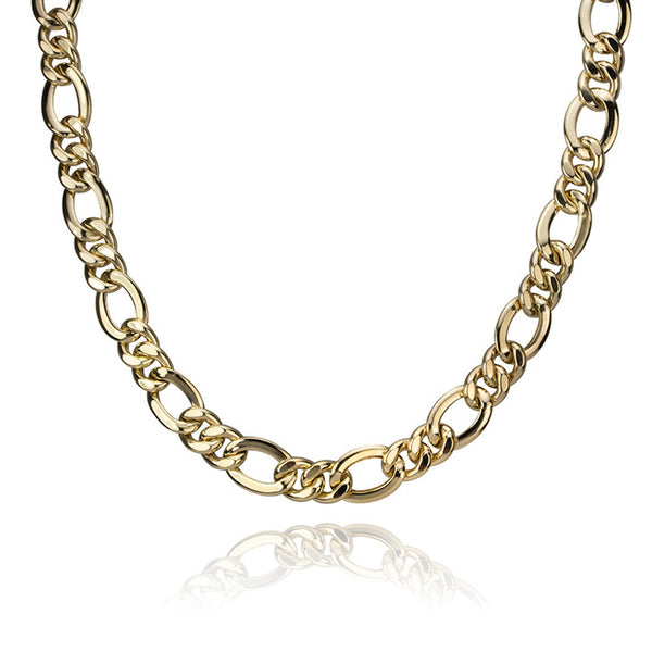 14K Figaro Necklace 7mm 18""