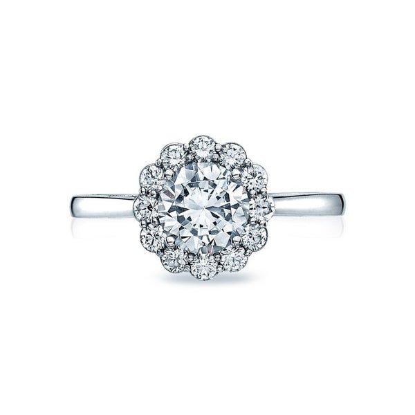 Tacori Full Bloom Platinum Diamond Engagement Ring