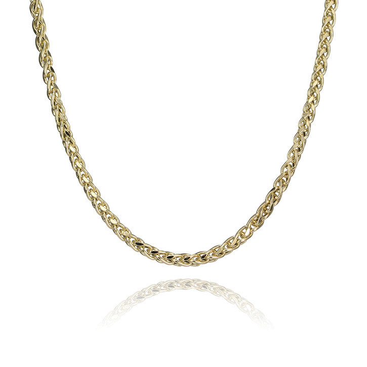 14K Yellow Gold Hollow Franco Link Necklace 20""
