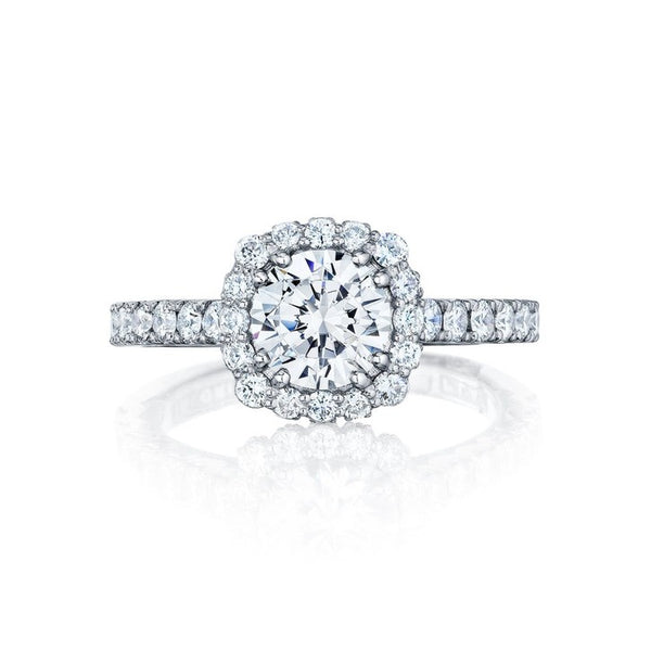 Tacori Full Bloom 18K White Gold Diamond Engagement Ring