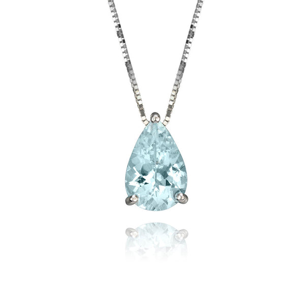 18K White Gold Aquamarine