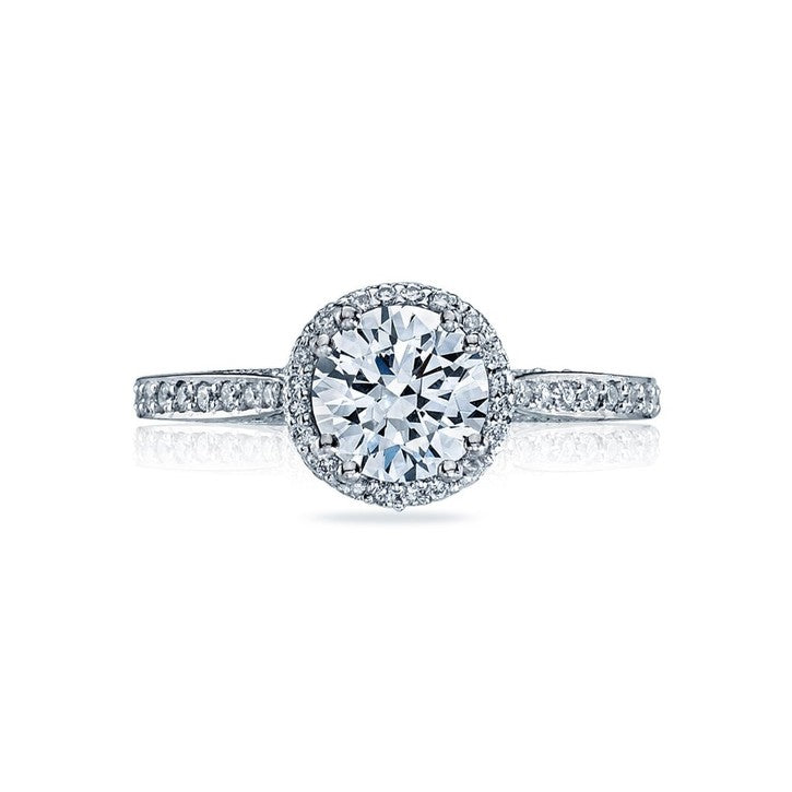 Tacori Dantela 18K White Gold Diamond Engagement Ring