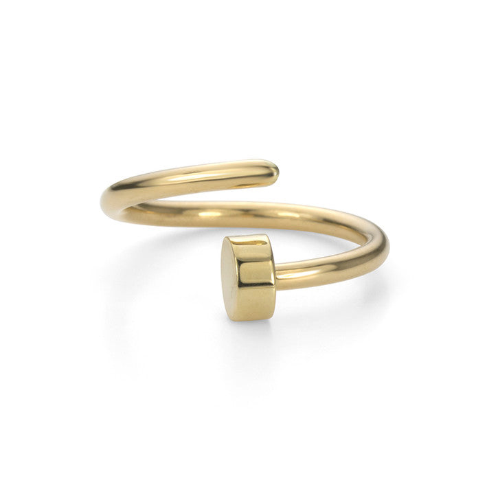 18K Yellow Gold Nail Cuff Ring