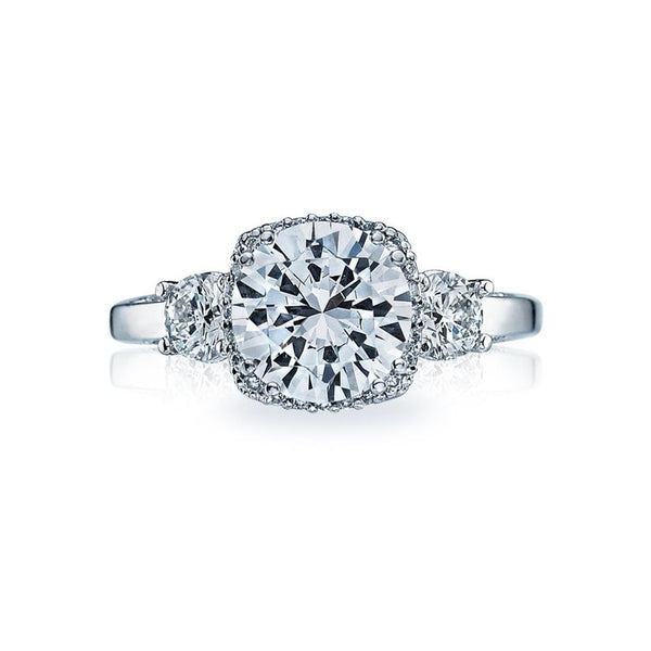 Tacori Dantela Platinum Diamond Engagement Ring
