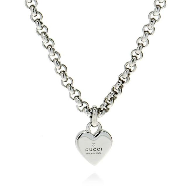 Gucci Silver Trademark Heart Necklace
