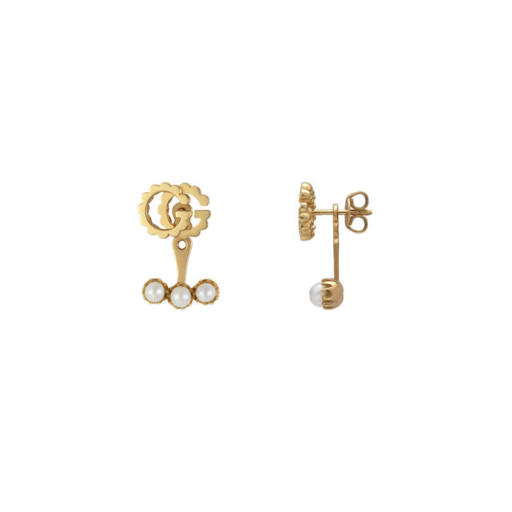 Gucci Single GG Running Pearl Earrings