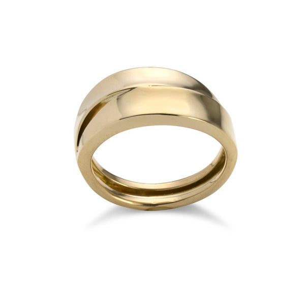 14K Yellow Gold Stacked Ring