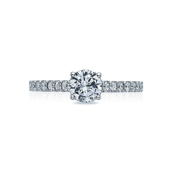 Tacori Clean Crescent 18K White Gold Diamond Engagement Ring