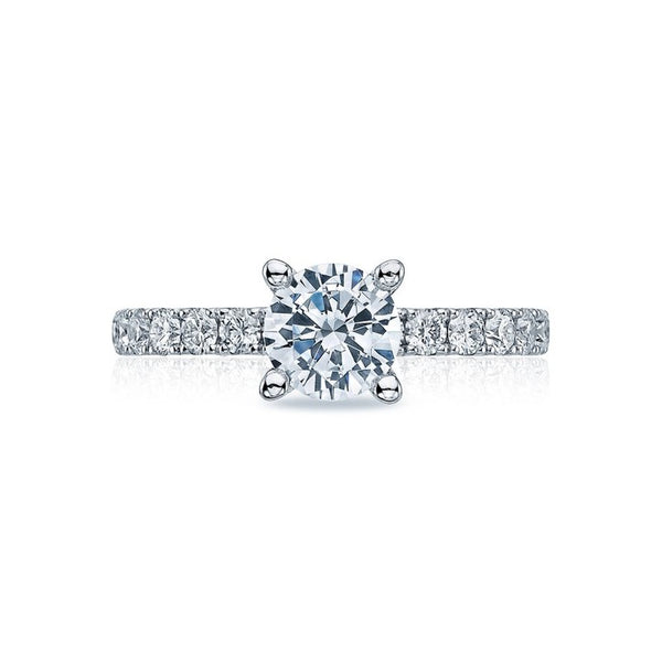 Tacori Clean Crescent Platinum Diamond Engagement Ring