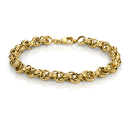 14K Yellow Gold Multi Rolo Link Bracelet