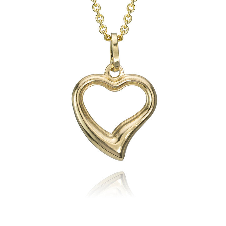 14K Yellow Gold Heart Pendant