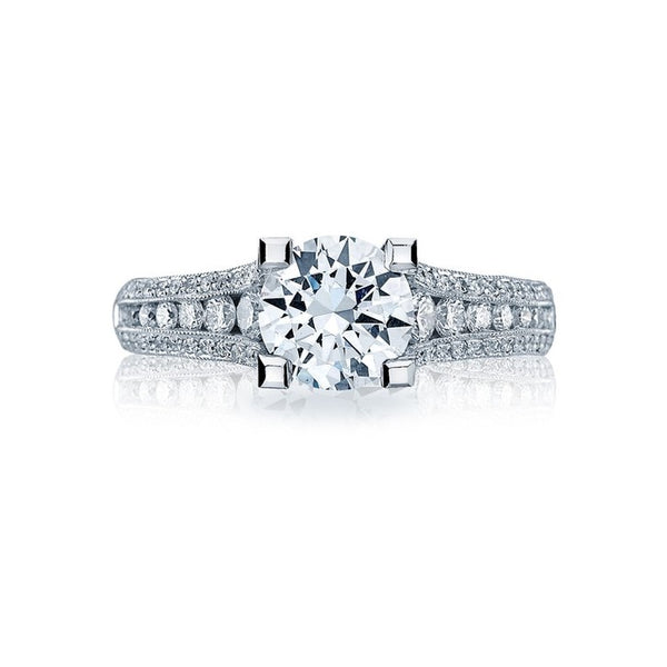 Tacori Classic Crescent Platinum Diamond Engagement Ring