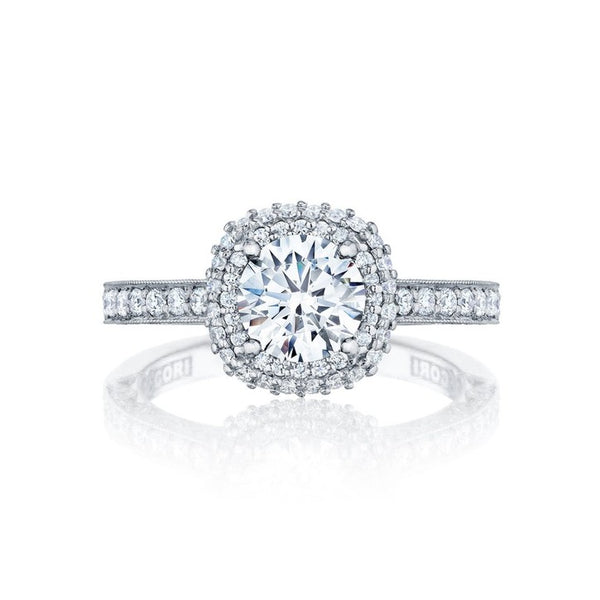 Tacori Blooming Beauties 18K White Gold Diamond Engagement Ring