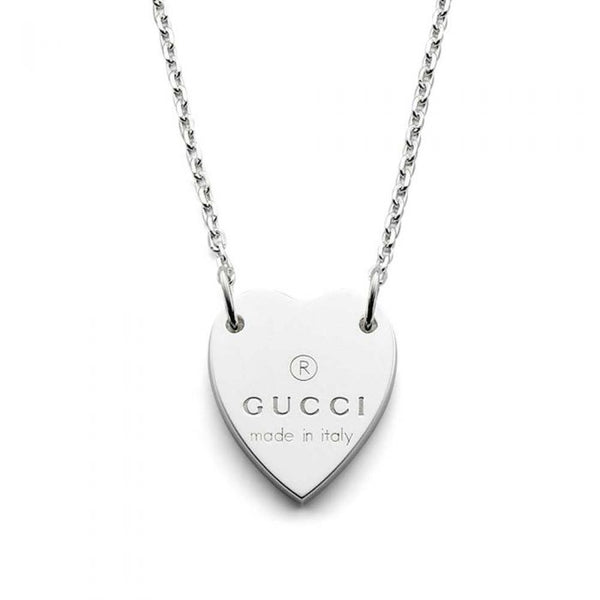 Gucci Silver Heart Trademark Necklace