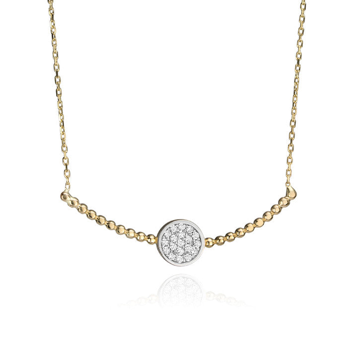 14K Yellow Gold and Cubic Zirconia Necklace