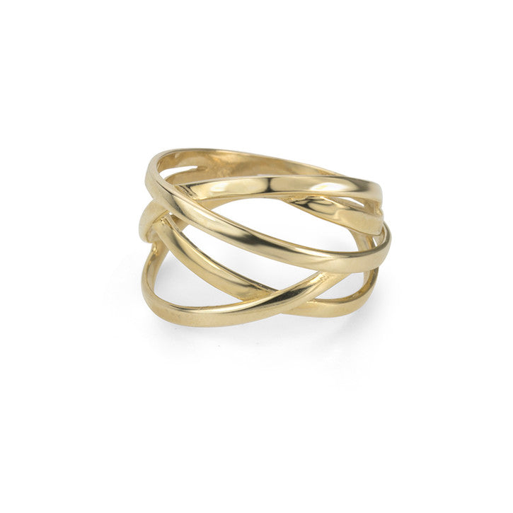 14K Yellow Gold Multi Strand Ring