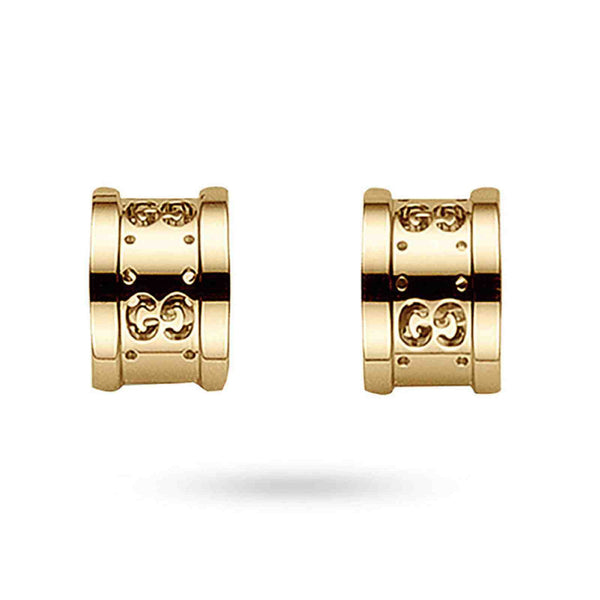 Gucci 18K Rose Gold Icon Twirl Stud Earrings