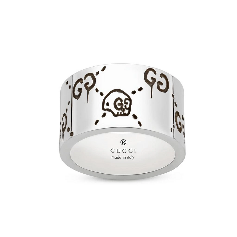 Gucci Silver Large Ghost Ring