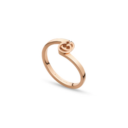 Gucci 18K Rose Gold GG Running Ring