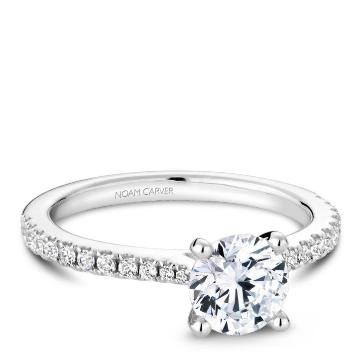 Noam Carver 14K White Gold Diamond Engagement Ring (R046-01A)