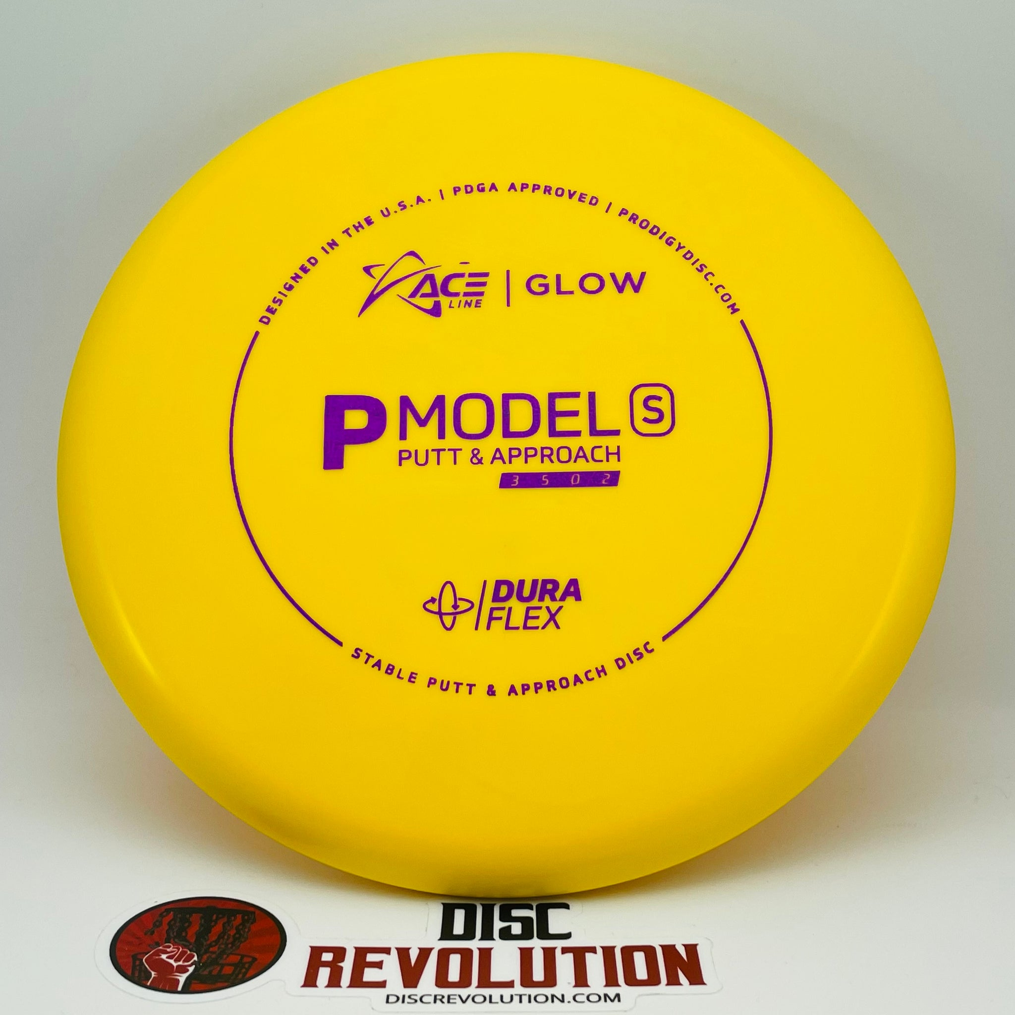 ACE LINE P MODEL S DURAFLEX GLOW PLASTIC - CALE LEIVISKA BOTTOM STAMP