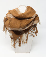 Load image into Gallery viewer, Silk Noil Infinity Scarf - Bark