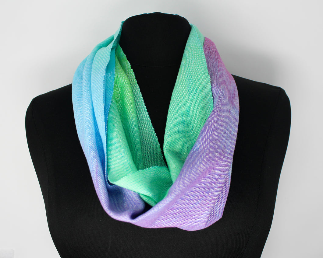 Rainbow Dyed Infinity Scarf
