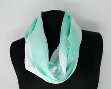 Load image into Gallery viewer, Teal Stripe Infinity Scarf