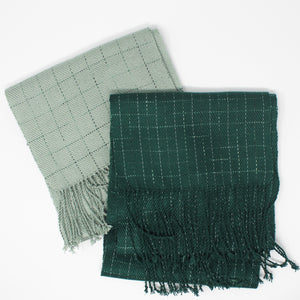 Break the Grid Reflective Scarf - Green