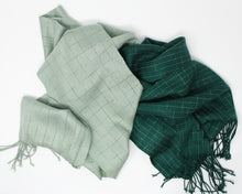 Load image into Gallery viewer, Break the Grid Reflective Scarf - Green