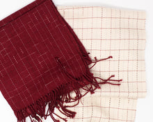 Load image into Gallery viewer, Break the Grid Reflective Scarf - Red