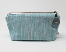 Load image into Gallery viewer, Teal Stripe Zippered Pouch