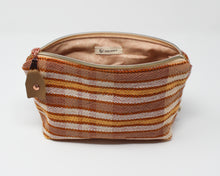 Load image into Gallery viewer, Peach Stripe Zippered Pouch
