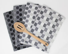 Load image into Gallery viewer, Polka Dot Kitchen Towels - Black & White